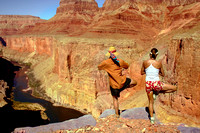 Yoga class, Grand Canyon style